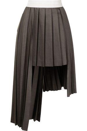 Peter Do Asymmetric pleated midi skirt