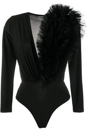 Alchemy Senhora Bodies interiores - Ruffled tulle bodysuit