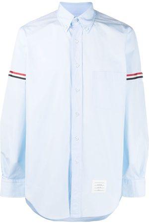Thom Browne Homem Manga comprida - RWB-stripe long-sleeve shirt
