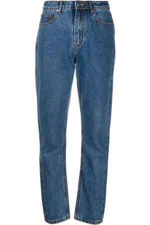 12 STOREEZ Senhora Retos - High-rise straight leg jeans