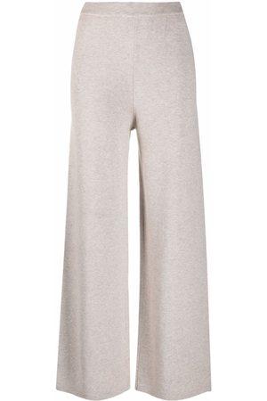 12 STOREEZ Senhora Calças à Boca-de-sino - Wide-leg knit trousers