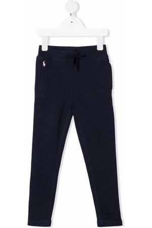 Ralph Lauren Kids Menina Calças - Polo Pony cotton track trousers