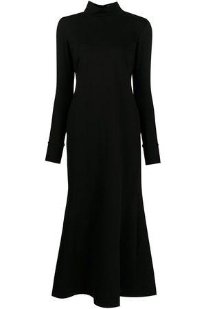 Macgraw Senhora Vestidos Casual - High-neck flared midi dress