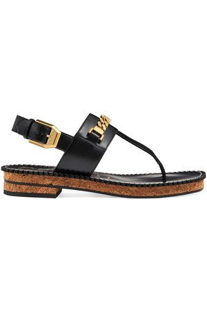 Gucci Senhora Cuecas - Chain-trim thong sandals