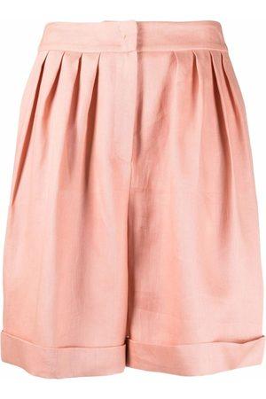 12 STOREEZ Senhora Calções - Pleated-waist shorts