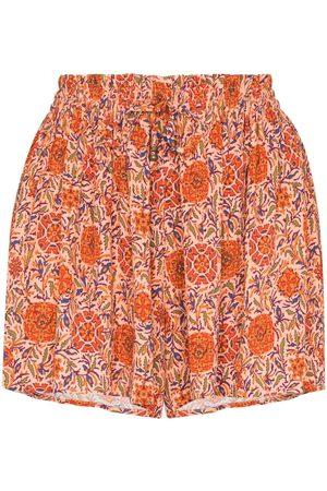 BOTEH Senhora Calções - Selene drawstring floral print shorts