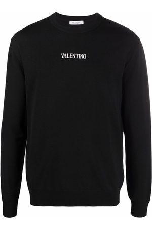 Valentino Homem Camisolas - Logo-intarsia jumper