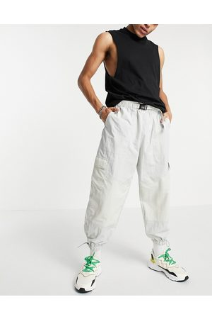 ASOS Oversized tapered joggers in colour blocking-Grey