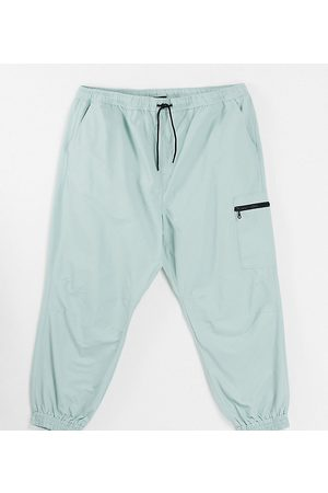 New Look Oversized jogger in light green