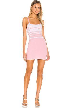 superdown Susie Striped Knit Dress in - Pink. Size L (also in XS, S, M).