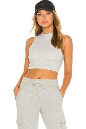 alo Micro Waffle Comfort Bra Tank in - Grey. Size M (also in XS, S, L).