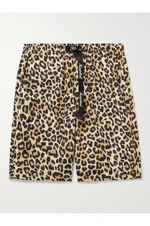KAPITAL Wide-Leg Leopard-Print Poplin Shorts