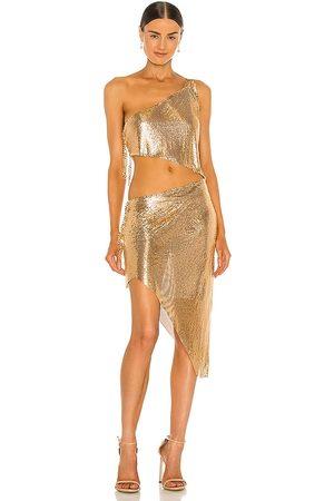 Bronx and Banco Senhora Vestidos - Xenia One Shoulder Dress in - Metallic . Size M (also in S).