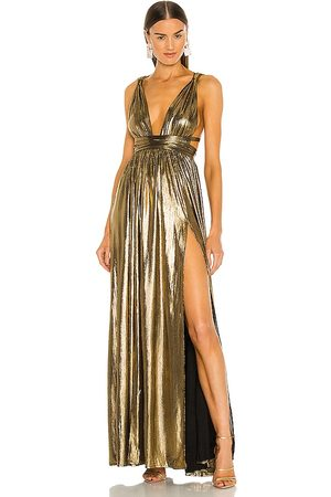 Bronx and Banco Goddess Gown in - Metallic . Size L (also in S).