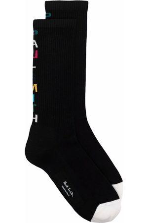 Paul Smith Homem Meias - Logo-intarsia socks