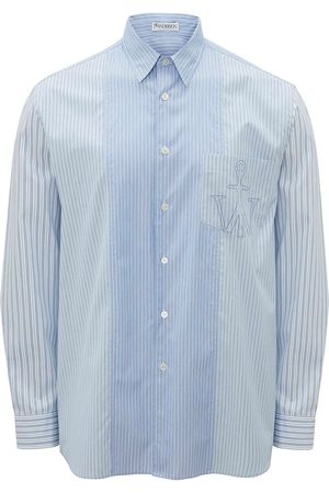 JW Anderson RELAXED STRIPE PATCHWORK SHIRT