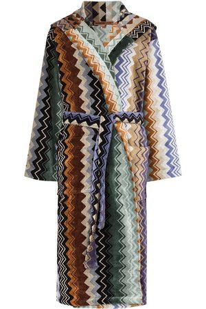 Missoni Senhora Roupões de Banho - Giacomo belted hooded bathrobe