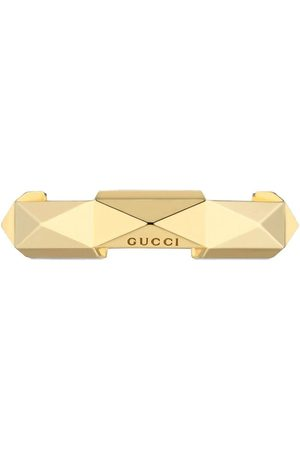 Gucci Anéis - 18kt yellow Link to Love studded ring