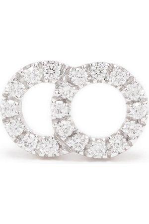 Courbet Senhora Brincos - 18kt white gold Celeste small diamond pavé set mono stud earring