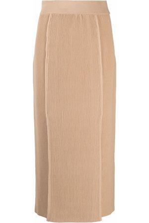 12 STOREEZ Senhora Saias-lápis - Ribbed knit skirt