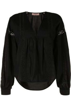 Twin-Set Embroidered lace detailed blouse