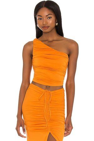 House of Harlow Senhora Tops de Cavas - X Sofia Richie Sunnie Top in - Burnt Orange. Size L (also in XXS, XS, S, M, XL).