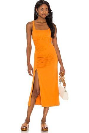 House of Harlow X Sofia Richie Mirtha Midi Dress in - Burnt Orange. Size L (also in XXS, XS, S, M, XL).