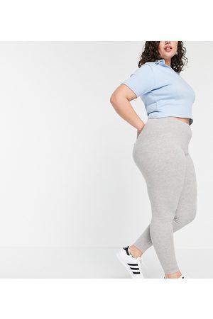 ASOS ASOS DESIGN Curve cotton legging in grey marl