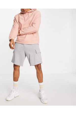 ASOS Oversized jersey shorts with cargo pocket in grey marl