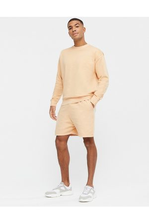 New Look Washed short co-ord in yellow