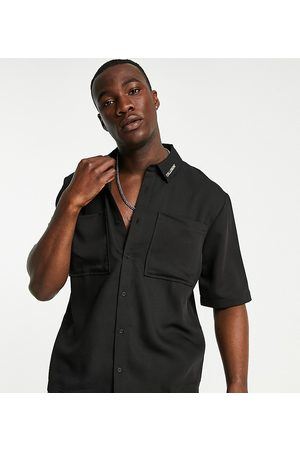 COLLUSION Short sleeve boxy shirt co-ord in black