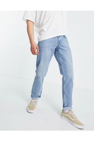 ASOS Mid wash slim jeans in selvedge denim-Blue