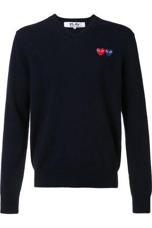 Comme Des Garçons Play Brand logo V neck jumper