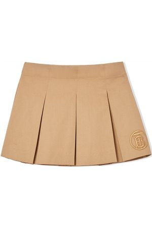Burberry Kids Bebé Saias - Monogram motif pleated skirt