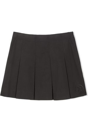 Burberry Kids Monogram-motif box-pleat skirt