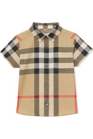 Burberry Bebé Camisas - Check-print cotton shirt