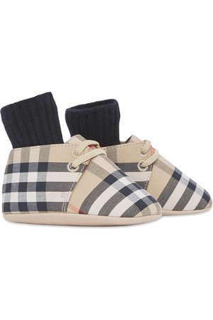 Burberry Kids Vintage Check canvas booties