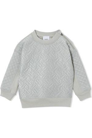 Burberry Monogram quilted panel sweatshirt