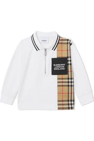 Burberry Vintage check panel polo shirt