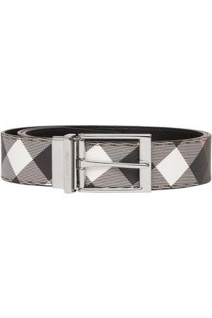 Burberry Homem Cintos - Reversible check-print belt