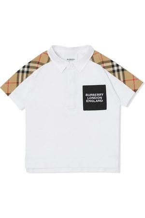Burberry Kids Vintage-Check panel polo shirt