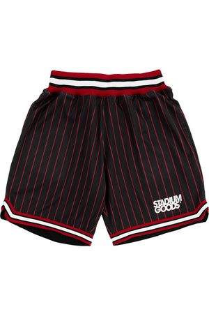 Stadium Goods Chi logo-print pinstriped track shorts