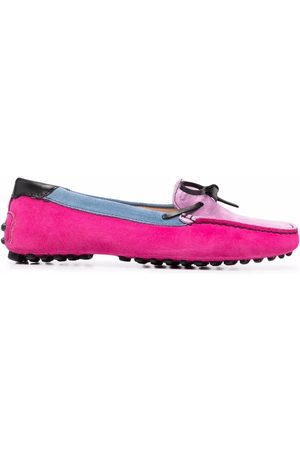Dee Ocleppo Colour-block driving loafers