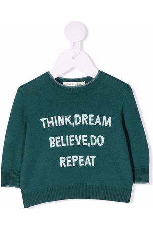 Zhoe & Tobiah Bebé Camisolas - Slogan-print cotton jumper