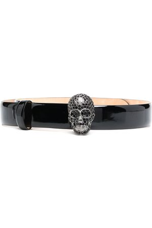 Philipp Plein Crystal-skull belt