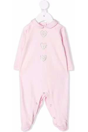 Chiara Ferragni Kids Bebé Pijamas - Gem-logo cotton pyjamas