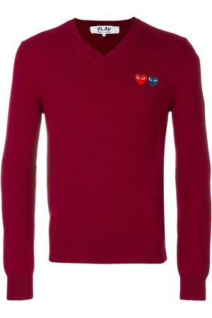 Comme des Garçons Heart logo knitted jumper