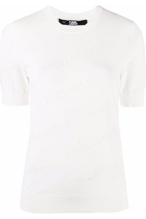 Karl Lagerfeld Senhora T-shirts & Manga Curta - All-over logo T-shirt
