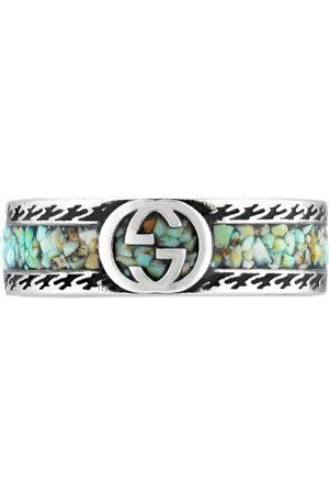 Gucci Homem Anéis - Interlocking G sterling ring