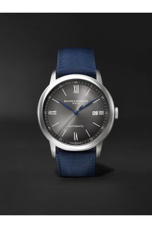 Baume & Mercier Homem Relógios - Classima Automatic 42mm Stainless Steel and Canvas Watch, Ref. No. M0A10608